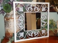 Ornate Shabby Chic Frosted Gray & White Scrolled Wrought Iron Mirror Oklahoma City, 73012