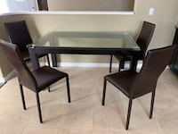 Glass top dining room. Negotiable Los Angeles, 91344