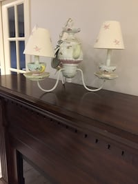 white and green ceramic table lamp Vaughan, L4L 4E7