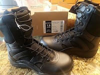 pair of black leather work boots Harvest, 35749