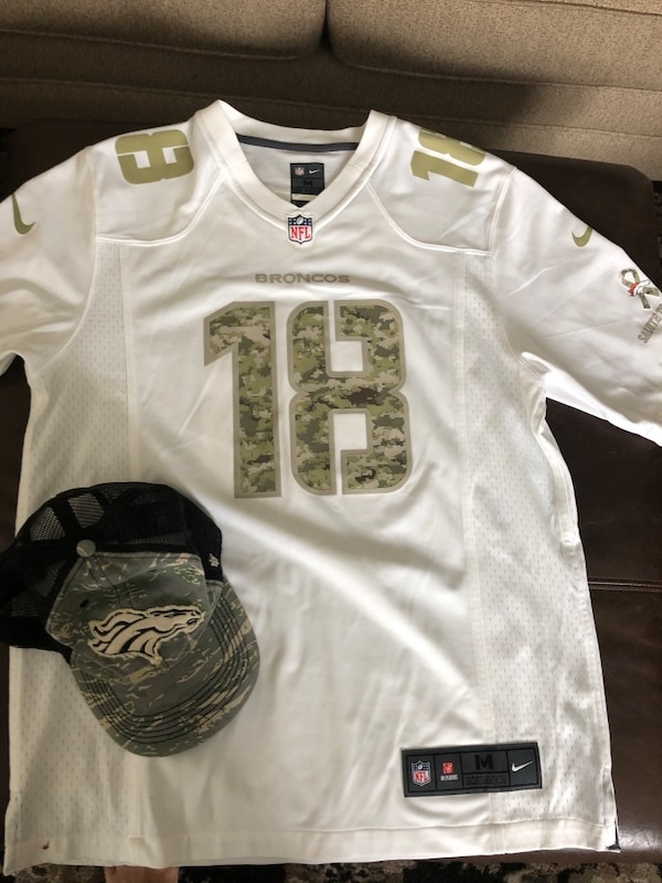 new style 029ac 71a7c Peyton Manning Military Denver Brancos Jersey and Hat