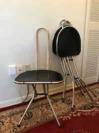 3 pc black and white metal chairs Toronto, M3C 1C5