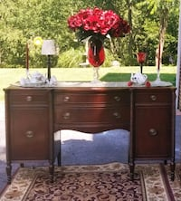 Beautiful Vintage Long Buffet Table With Plenty of Cranberry Township