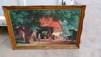 brown wooden framed painting of house Lubbock
