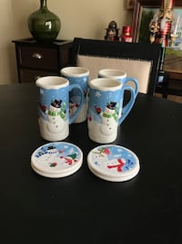 St. Nicholas Square Chill Out mugs & coasters ~ set of four Maple Grove