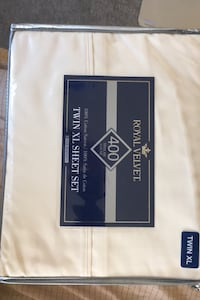 Twin XL Royal Velvet Ivory  Sheet Set