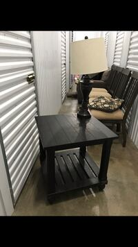 Black wooden table with chair Los Angeles, 90731