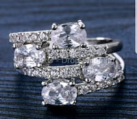 $15 NEW sz 9 or 10 silver plated CZ ring  Ballwin, 63021
