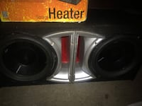 "RockFord Fosgate P3 12"" subs with ported box"
