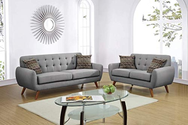 Excellent Value Poundex F6912 Bobkona Sonya Linen Like 2 Piece Sofa And Loveseat Set Must View Gorgeous Hot Theyellowbook Wood Chair Design Ideas Theyellowbookinfo
