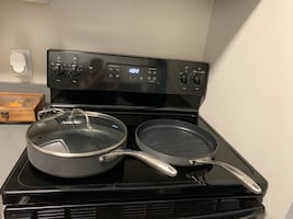 5 piece hard anodized pots and pans