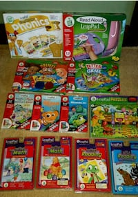 Lot of 12 - Leap Frog Read Aloud Leap Pad with microphone and 11 games Clinton, 01510