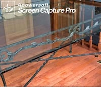 Glass n Wrought Iron Dining vTable Adelphi, 20783