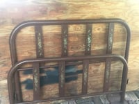 Antique metal bed headboard and footboard