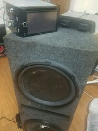 black and gray subwoofer speaker Indian Head, 20640