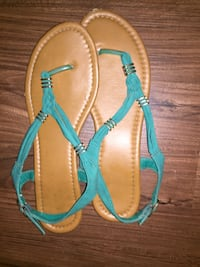 pair of brown-and-blue sandals Waukegan, 60085