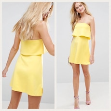 34 .Vestido Amarillo off the shoulder