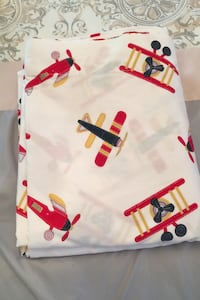 Helicopter theme flat sheet for full size bed