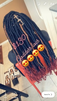 Special End Soon On Braids & Goddess Locs... 360 frontal with two bundles $200 frontal with two bundles $175 extra $30 to color hair Baltimore, 21217