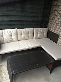 white leather tufted sectional sofa Hoboken, 07030