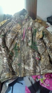 green and brown real tree camouflage zip-up jacket Kearney, 68847