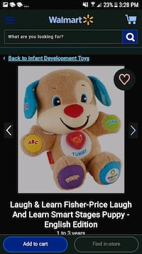 Fisher-Price laugh and learn smart stages puppy St. Thomas, N5P