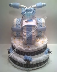 Unique diaper cakes, baby shower gift ideas, diapers, pampers