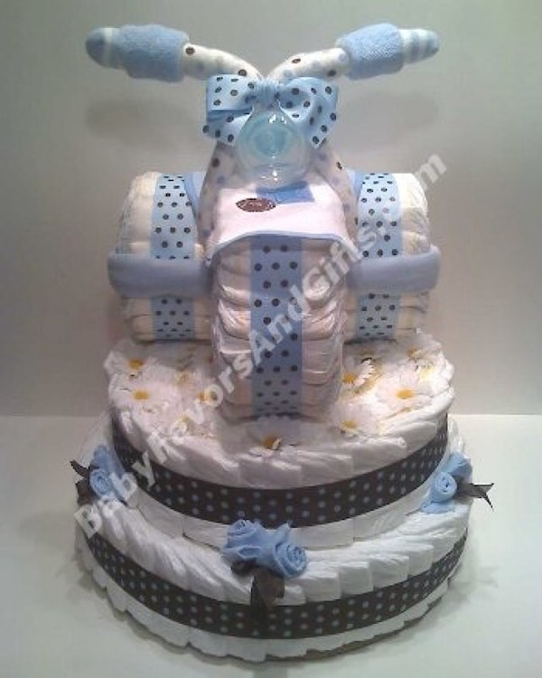 Used Unique Diaper Cakes Baby Shower Gift Ideas Diapers Pampers