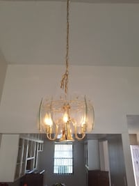 Gold and glass chandelier 817 mi