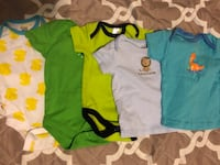 5 Baby boy onesies and shirt set | rarely used | Good condition | Size: 3 to 6 months  Silver Spring, 20906