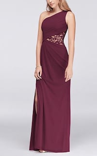 "David's Bridal Bridesmaid's dress in ""wine"" colour. Size 2 Toronto, M9A 4C8"