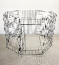 "New $40 Foldable 42"" Tall x 24"" Wide x 8-Panel Pet Playpen Dog Crate Metal Fence Exercise Cage Play Pen South El Monte"