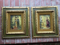 Two vintage pictures in pretty frames Glen Mills