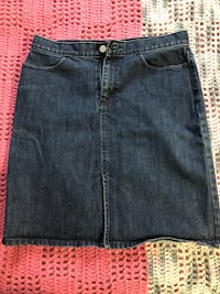 women's blue denim skirt