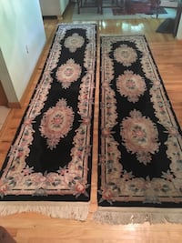 two floral bordered rug runners Yorktown Heights, 10598