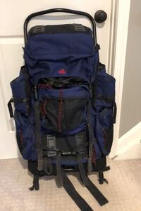 External Frame Backpack, Rain Cover, and Mosquito Net