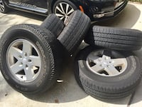 "17"" Jeep Wrangler Tires with rims. 2 tires with 20,000 miles with plenty of miles left. 2 tires need replacing and spare tire with half life left. $200 OBO Lithia, 33547"