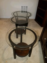 Glass top side and center (coffee) tables