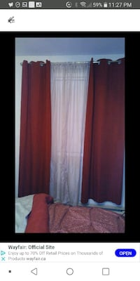 Curtains 2 red panels Laval, H7M 4A2