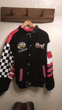 black, white, and red Bud button-up racing jacket Hagerstown, 21740