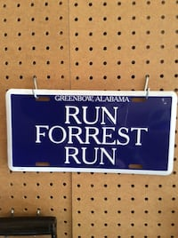 """Run Forrest Run"" license plate ($24.68 on Amazon.ca) Calgary, T3H"