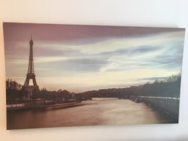 Eiffel tower canvas picture wall art