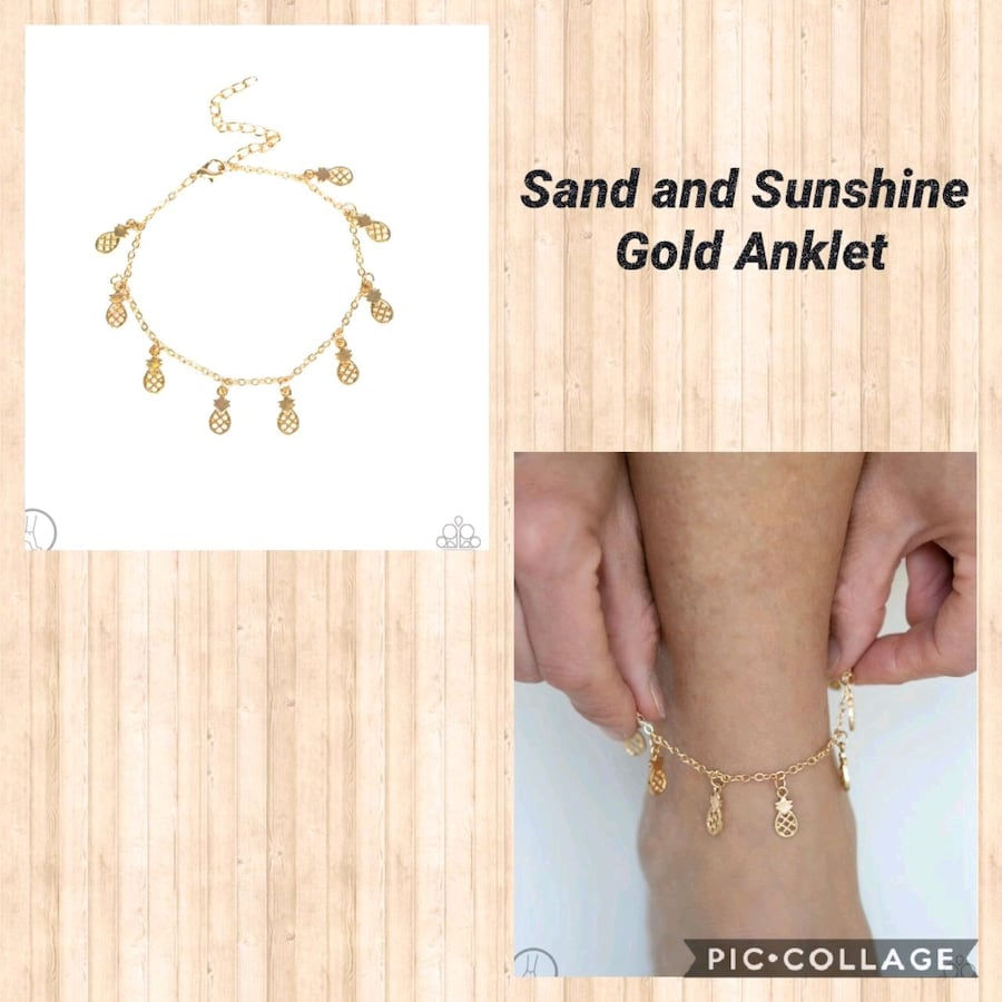 Sand and sunshine gold Anklet  f7a49ba3-5939-4aad-b856-5210bdab7e72