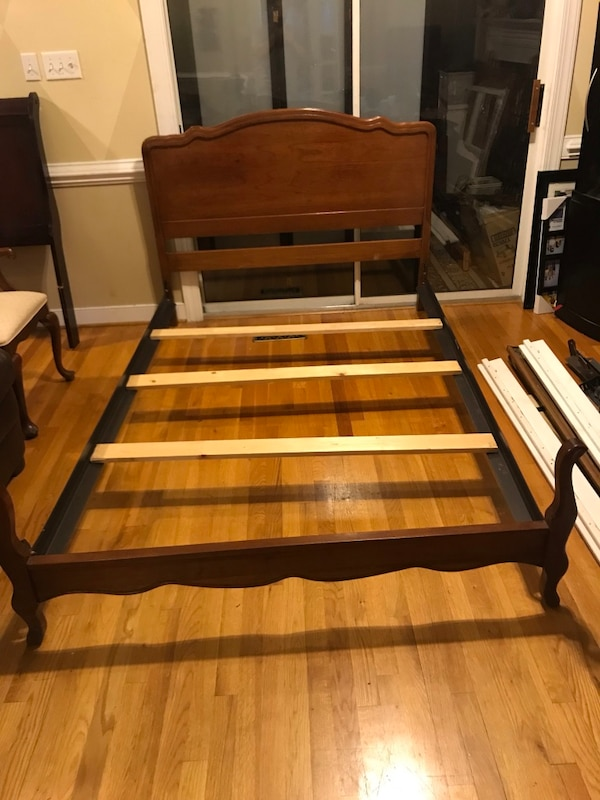 Full size solid wood bed frame for sale