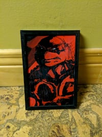 black and red abstract painting Oakville, L6K 2S7