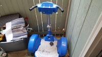 blue and white segway