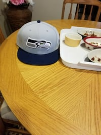 gray and black Seattle Seahawks fitted cap Brick, 08724