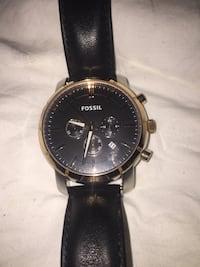 Fossil round black chronograph watch Lawrenceville, 30046