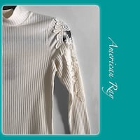 Egret High Neck Long Sleeve Fitted Top Irving, 75061