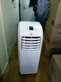 white LG portable AC unit New York, 10035